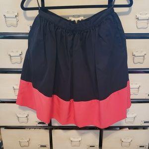 Topshop Flowy Color-Block Skirt
